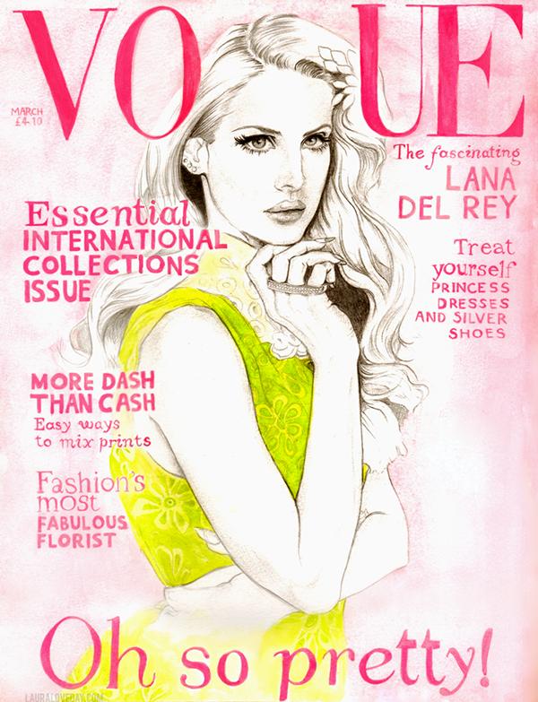 Lana Del Rey Vogue UK Cover on Behance