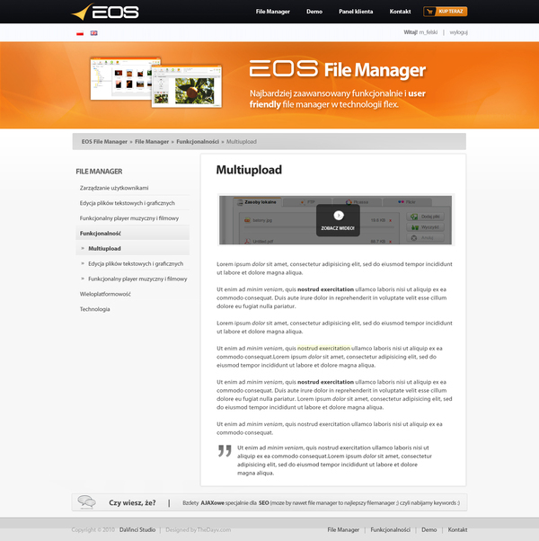 EOS File Manager on Behance