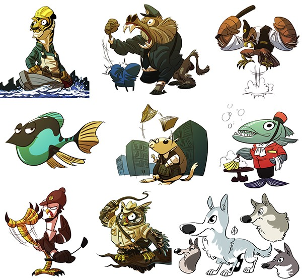 Character Design Shuffle App : Animals on behance