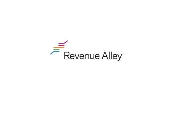revenue  alley colorful lines logo identity modern Subbrands Website business boxes software IT