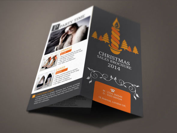 Christmas Sales Brochure Design On Behance