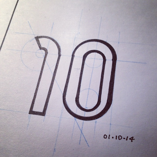 numbers fonts drawing a day text sketching