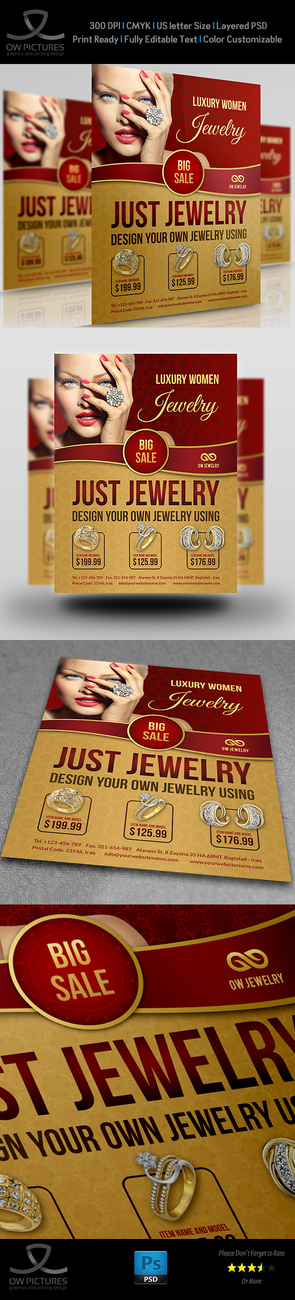 Jewelry Flyer Template On Behance