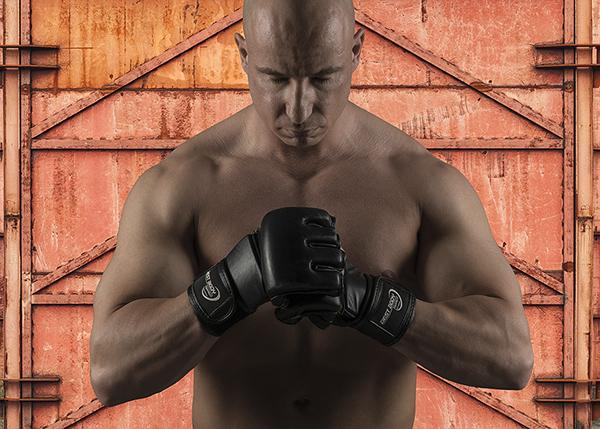 dico dico-portrait composing photoshop Fighter man muscles