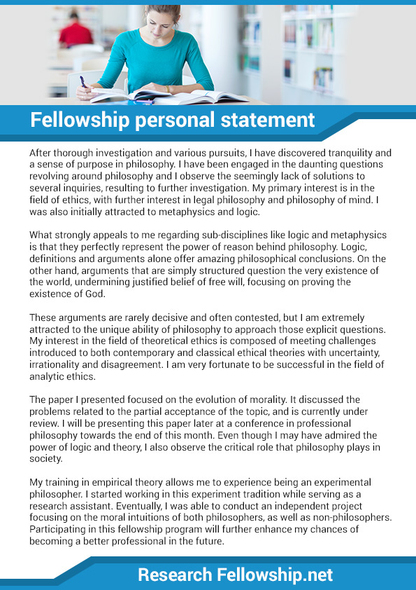 fellowship personal statement editing An excellent personal statement may cause an admissions officer to review the rest of your application more closely,  residency or fellowship application editing.