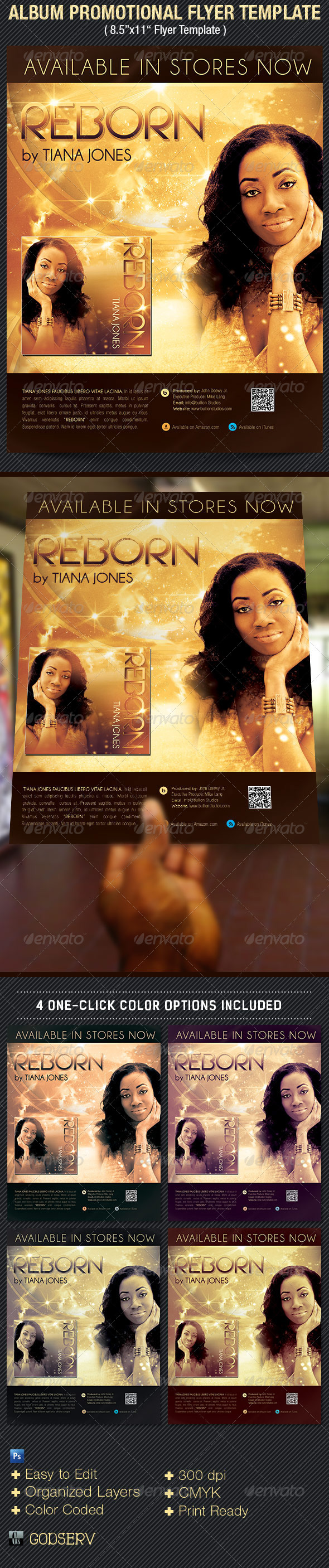 album release promotional flyer template on behance
