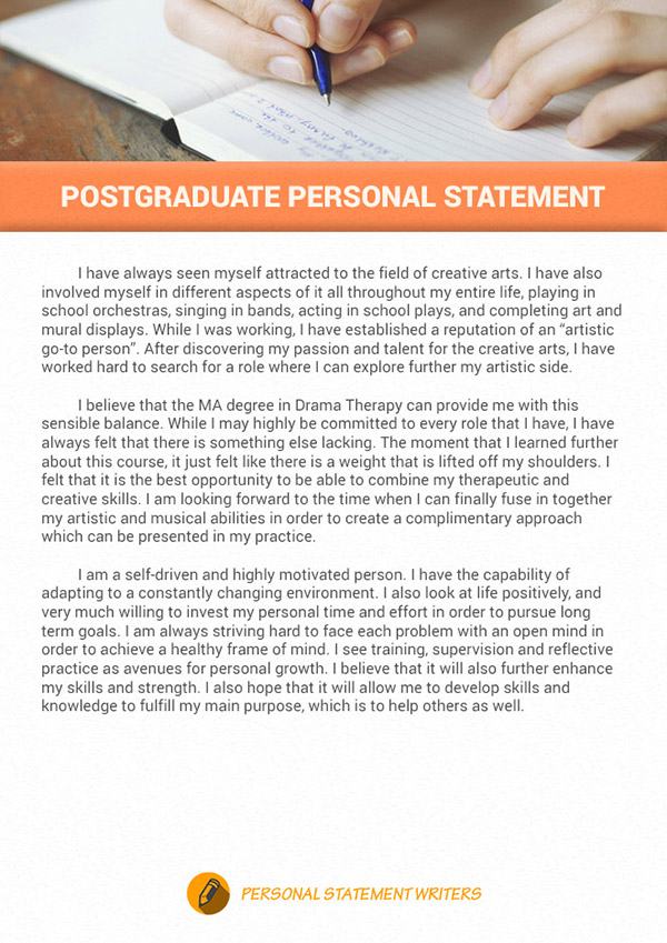 postgraduate personal statement example