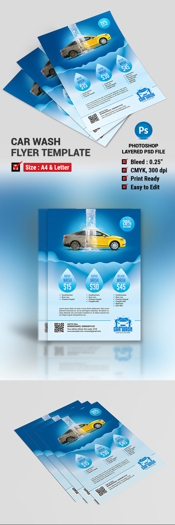 Car Wash Flyer Template On Behance
