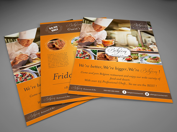 Restaurant Flyer Template On Behance