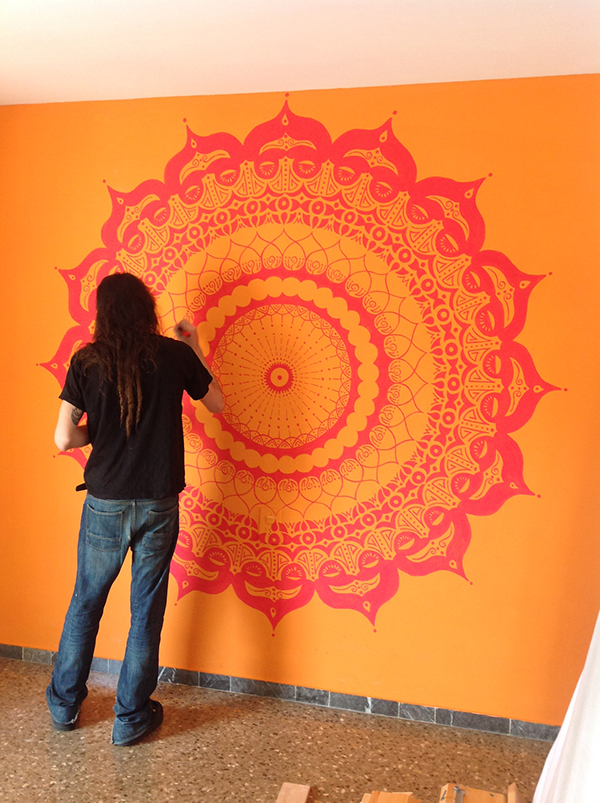 Mandala Wall Painting On Wacom Gallery