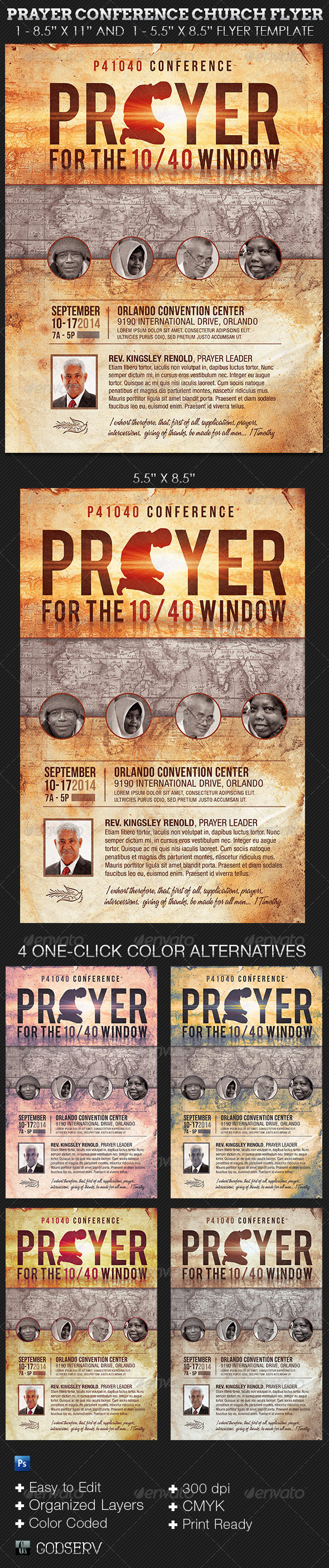 prayer conference church flyer template on behance