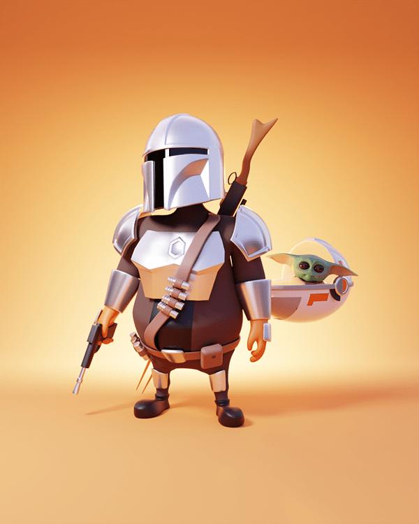 3D Character Illustrations