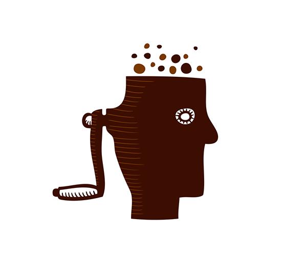 logo identity brand head face mincer brown
