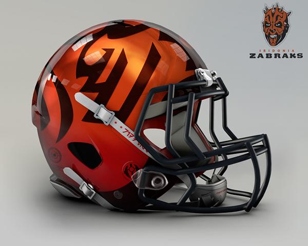star wars Helmet football league