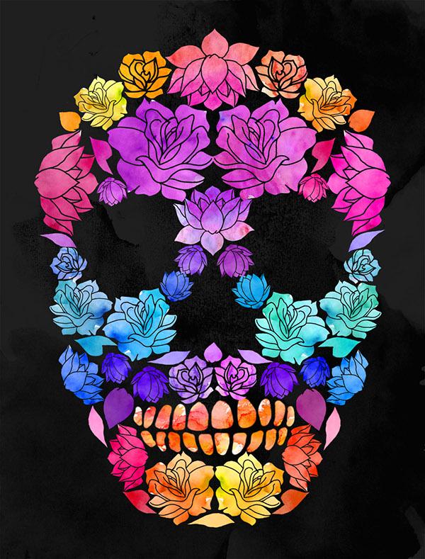 Flower Skulls on Behance