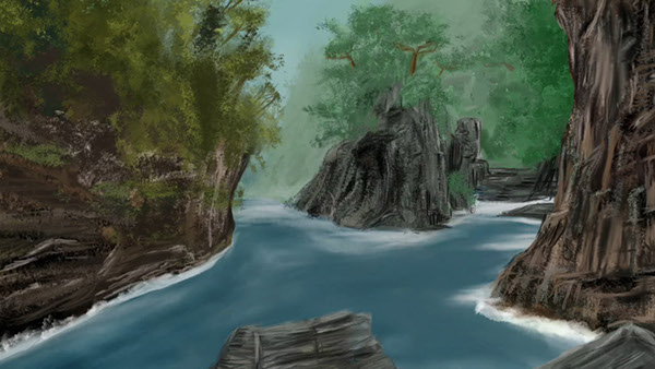 background digital painting on behance