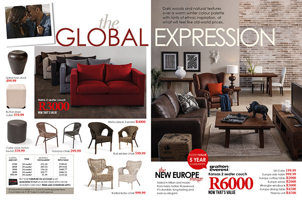 Mr price home furniture catalogue for 39 13 i worked on the for Furniture house catalogue