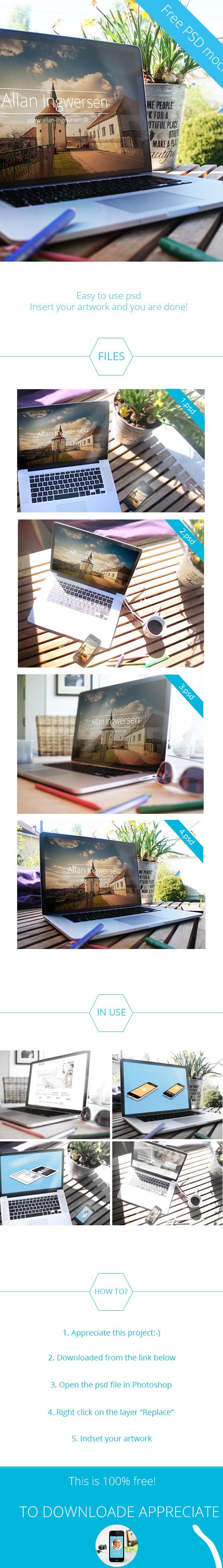 free psd psd Mockup free mockup  photoshop file macbook macbook pro iphone iphone mockup macbook mockup
