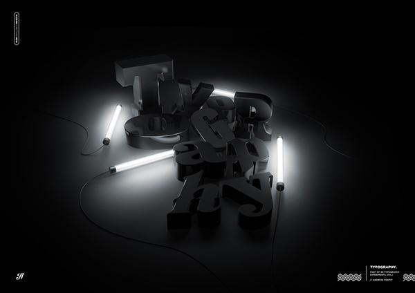 3D Andrew Footit type texture lighting rendering