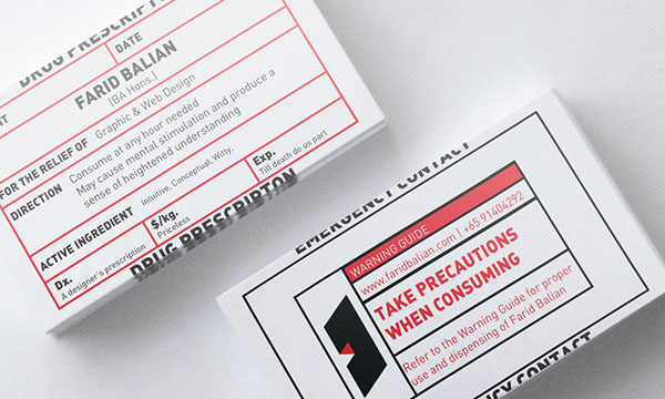 a new set of business cards that has bits of humor and wit