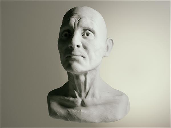 old man fast Sculpt sketch