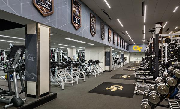 Georgia Tech Athletics Weight Room On Behance - Weight room design
