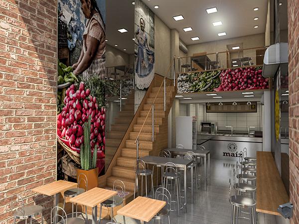 Fast Food Restaurant 3D Layout  on SCAD Portfolios