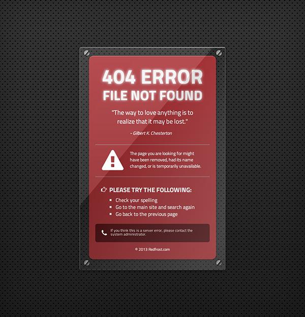 CSS3 Custom 404s on Behance