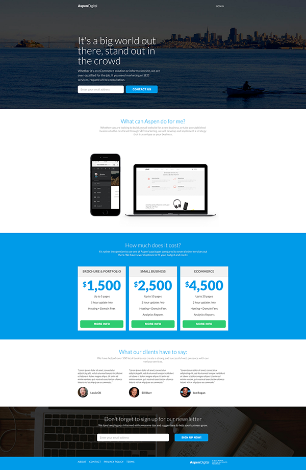 Free Responsive Landing Page HTML CSS On Behance - Landing page html template