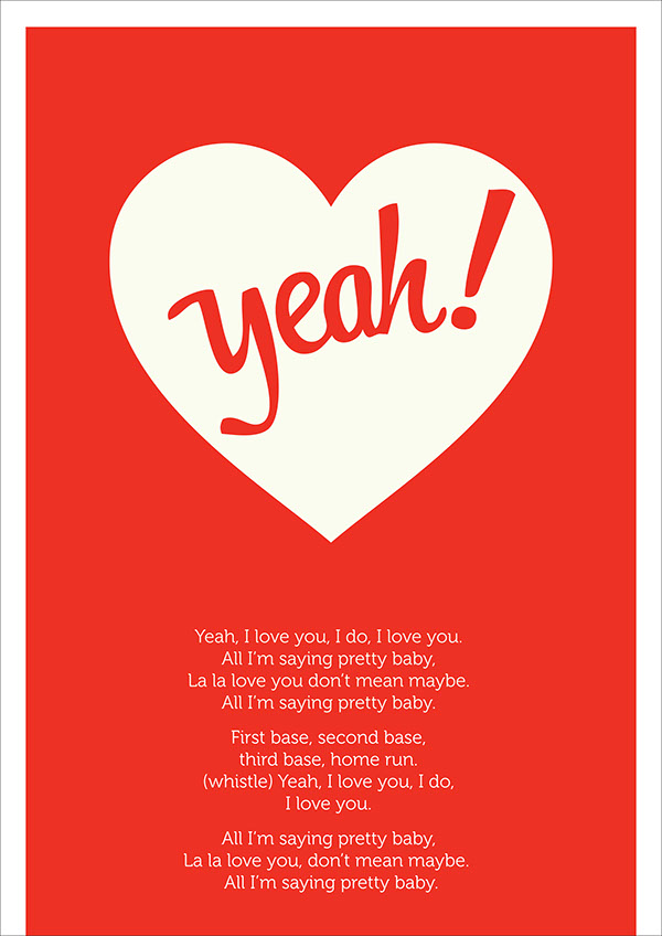 The Pixies song lyrics poster