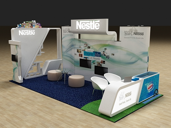 Nestle Exhibition Booth : Nestle hr booth on behance