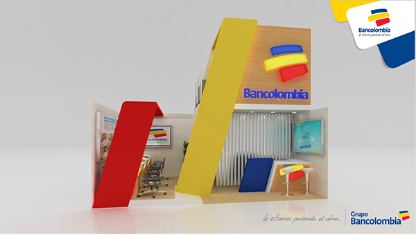 Stand Bancolombia On Behance