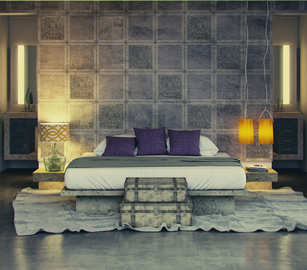 CONTEMPORARY MODERN ARABIC BEDROOM