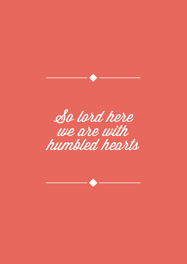 bible/song quotes on Behance