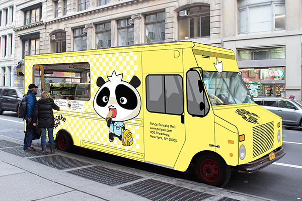 Panda pancake food truck design on behance for How to design a food truck