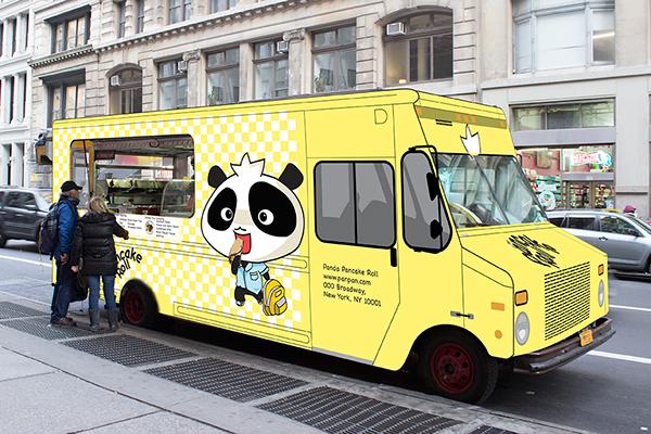 Panda pancake food truck design on pratt portfolios for Design your food truck