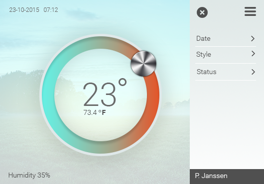 thermostat thermostaat user interface