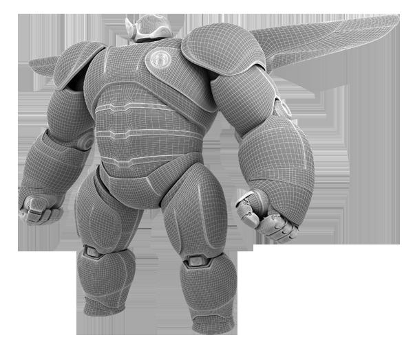 Big Hero 6 Baymax 3d Model Fan Art On Behance