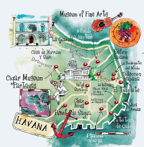 art maps Havana St Barts Bermuda Dominican Rep on Behance