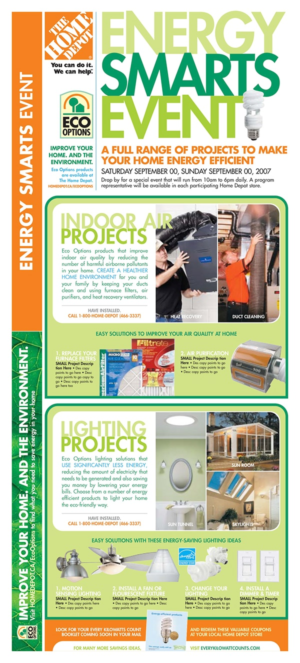 home depot flyer signage newspaper on behance an integrated campaign promotion providing project ideas product solutions