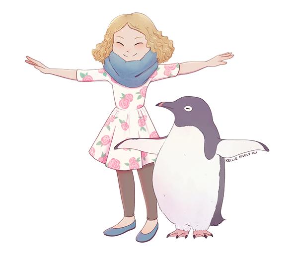 Adelie Penguin Pose