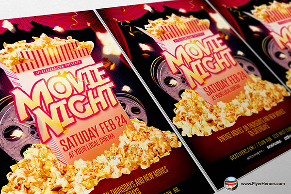 Movie Night Flyer Template Is Fully Editable Photoshop PSDs. Once You Have  Downloaded This Template, Using Adobe Photoshop CS4+ You Can Make Use Of  This ...