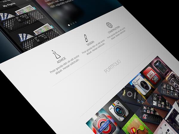 portfolio Interface UI Russia Moscow light Web Icon iphone ios Website