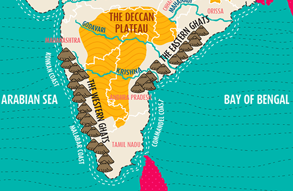 map of india on pantone canvas gallery