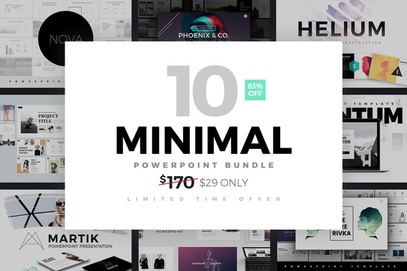minimal powerpoint template bundle by slidedizer on behance