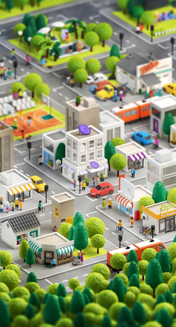 3D City by Anna Paschenko