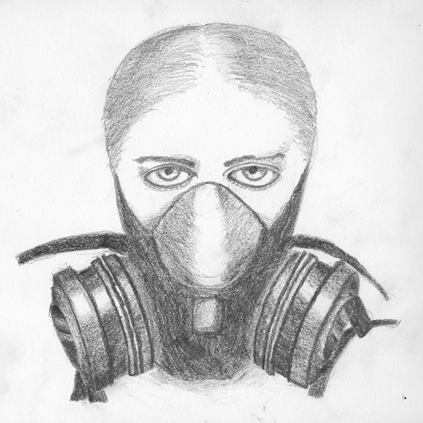 Gas Masks Drawing Gas Mask Sketch...600