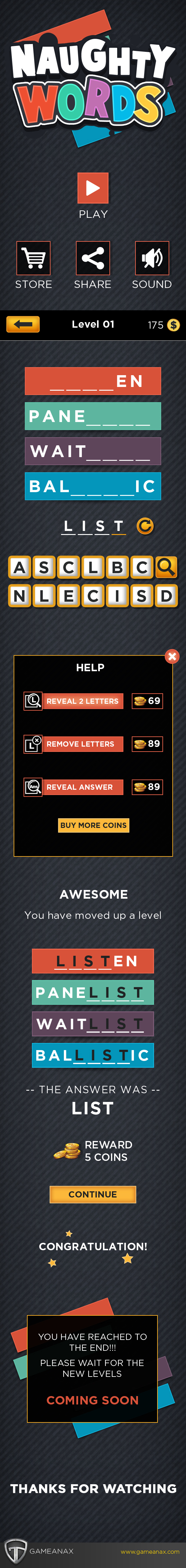 mobile gaming Gaming Games UI ux iphone iPad puzzle word puzzle