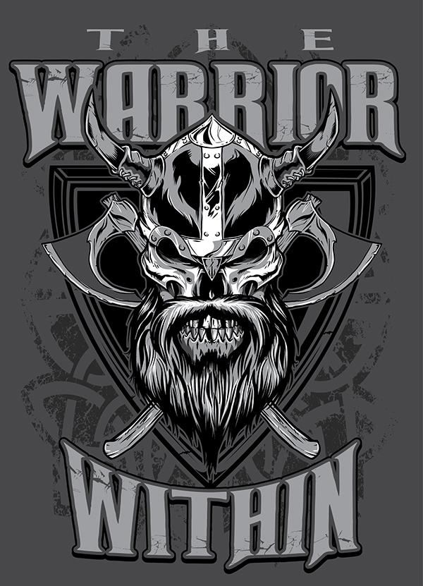 The Warrior Within Viking Warrior Skull On Behance