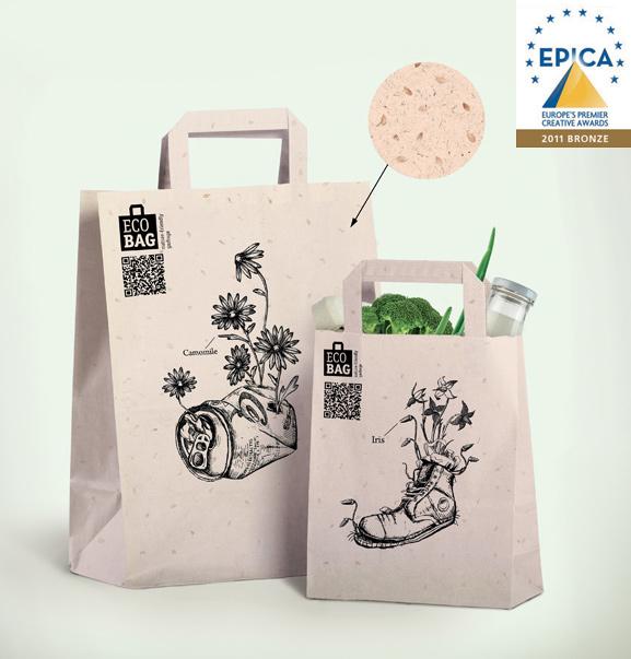 epica,Pack, eco ,bio,paper,shopping bag,design,zvereva vera,Depot WPF,green,Plant,Sustainable,Ecology,Awards,award